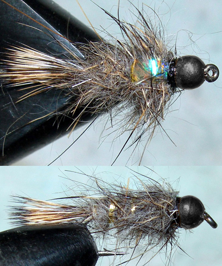 Blackbead Goldribbed Hares Ear Flashback trout fly