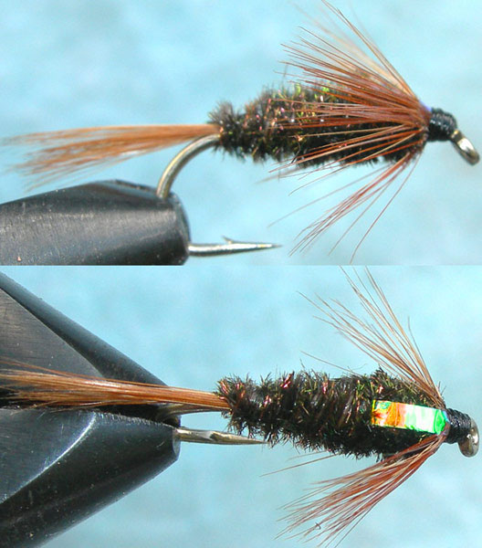 Franks Flashback pearl trout fly