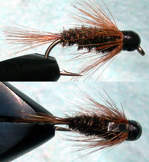 Franks Flashback tungsten blackbead trout fly