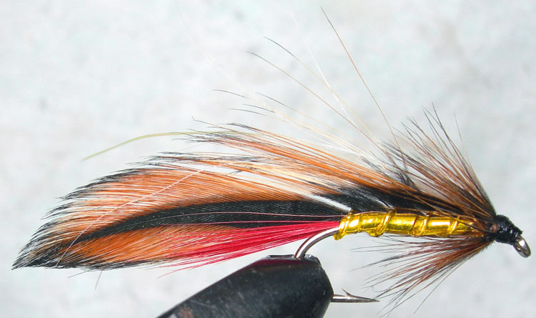 Ginger Mick Flashabou trout fly