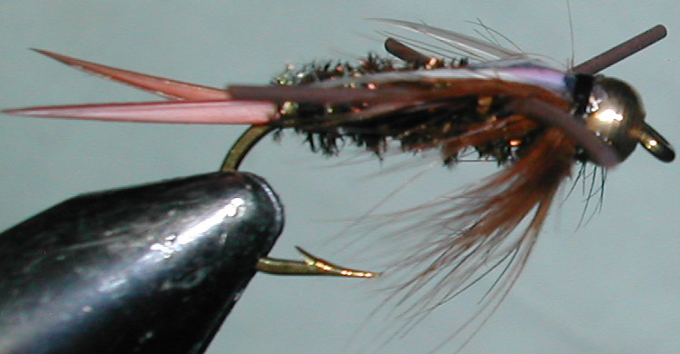 Goldbead Flashback Rubberlegged Prince trout fly