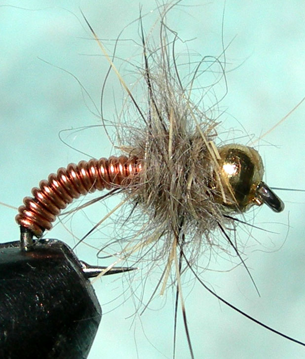 Goldbead Hare Thorax Brassie trout fly