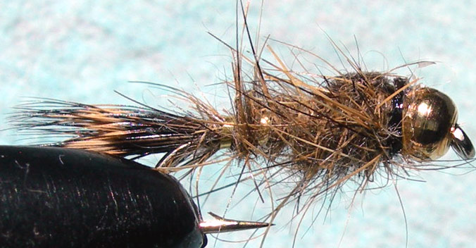 Goldbead Hares Ear goldribbed trout fly