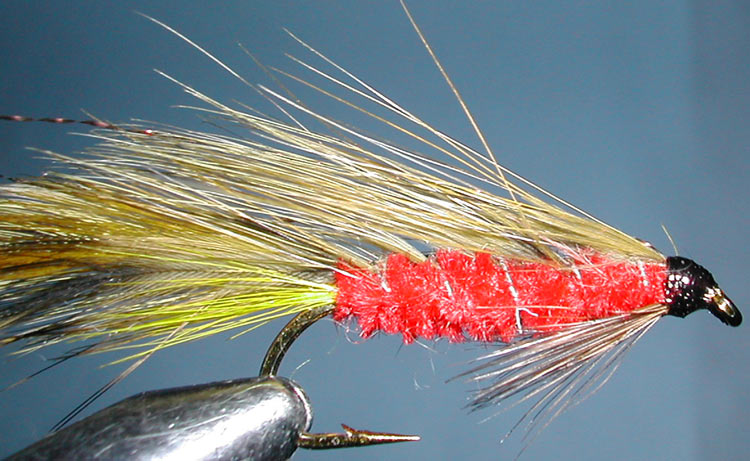 Green Orbit RedBody trout fly