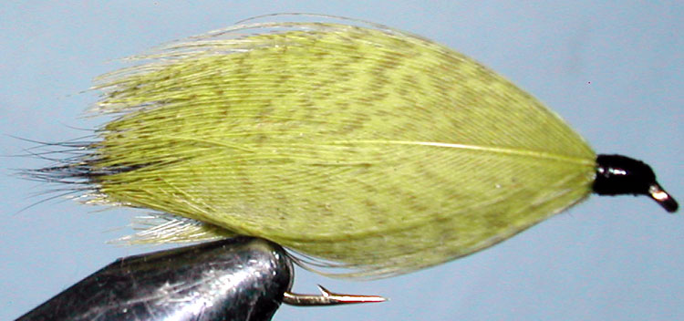 Hamills Killer 2XL yellow trout fly