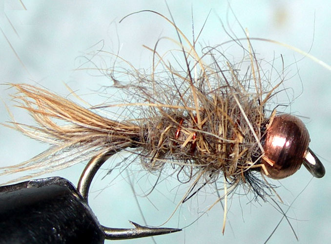 Hare&Copper Copperbead Heavy trout fly