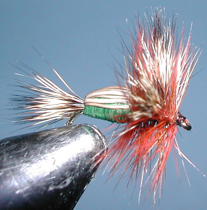 Humpy green trout fly