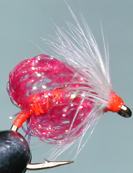 Krystal Egg pink trout fly