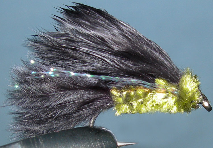Marabou Leech black&olive trout fly