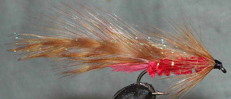 Parsons Glory red Krystal Overwing trout fly