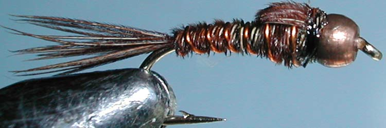 Pheasant Tail Kiwi Copperbead trout fly