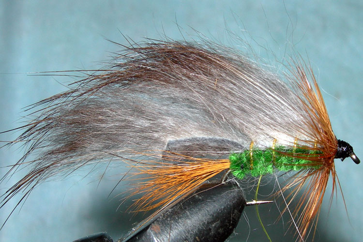 Rabbit green trout fly