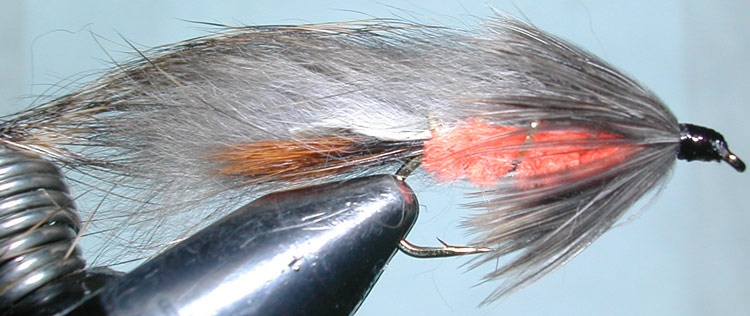 Rabbit orange trout fly