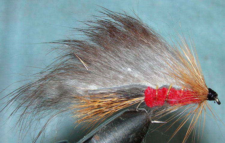 Rabbit red trout fly