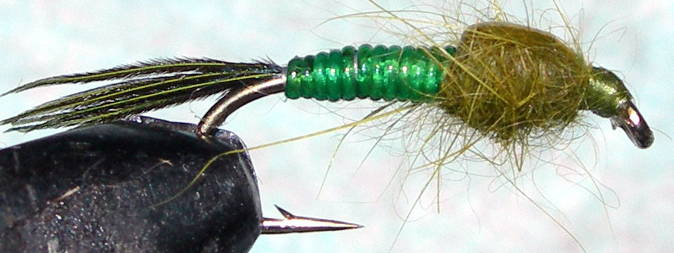 Steves Green Stone trout fly