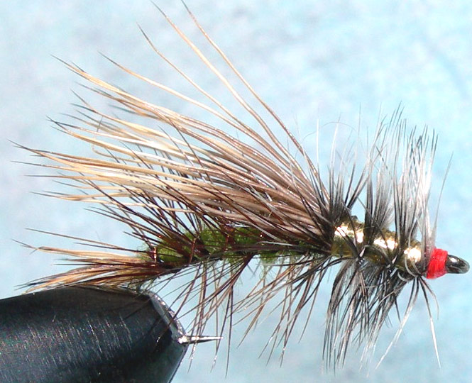 Stimulator Olive&Gold trout fly