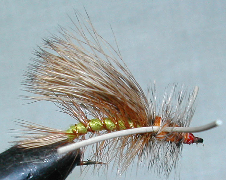 Stimulator Yellow&Olive Rubberlegs trout fly
