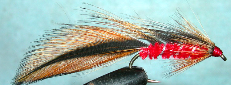 Taupo Tiger furnace red trout fly