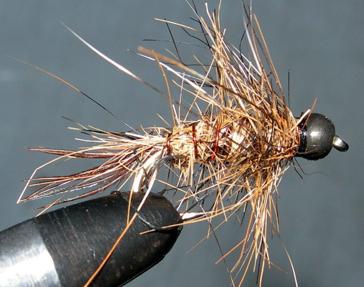 Tungsten Blackbead Hare&Squirrel trout fly
