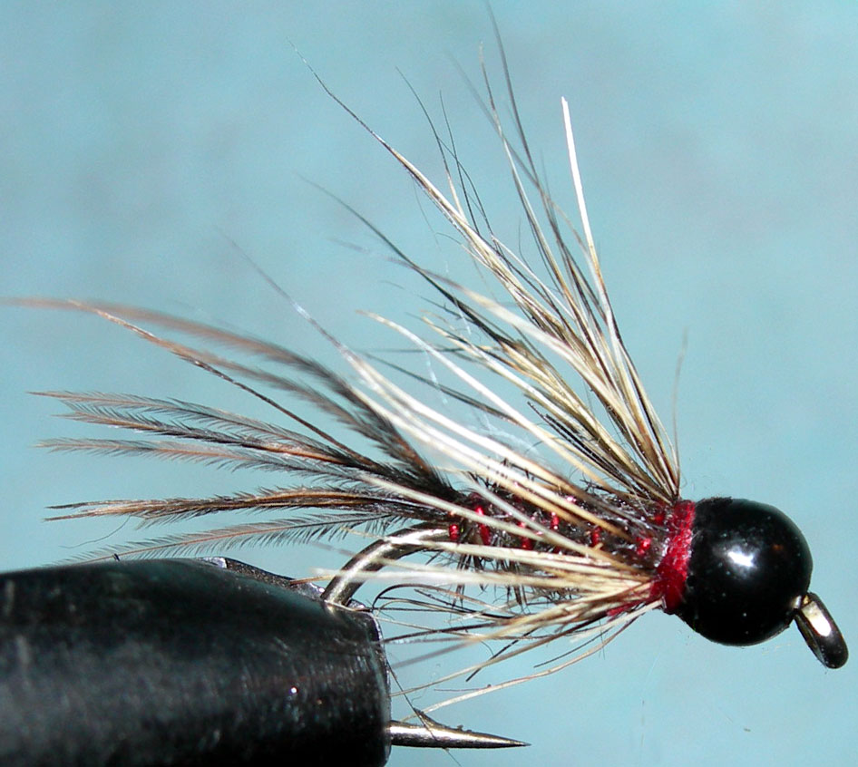 Tungsten Blackbead Hare Angel trout fly
