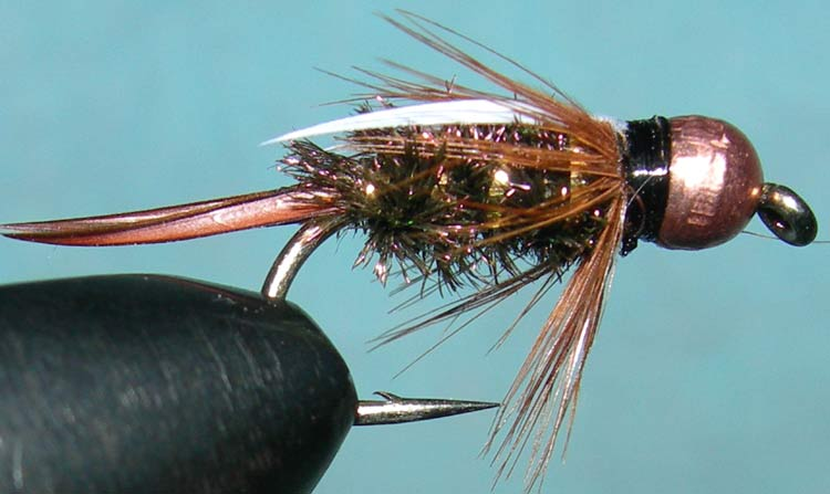 Tungsten Copperbead Prince trout fly