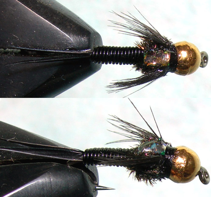 Tungsten Goldbead Blackpearl trout fly