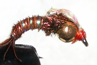 Tungsten Goldbead Bubbleback Emerger trout fly