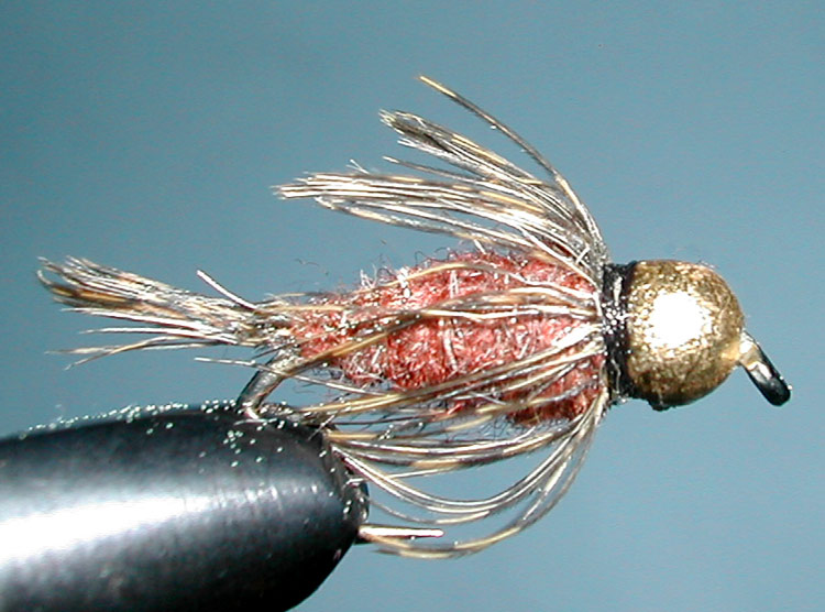 Tungsten Goldbead Copperflash trout fly