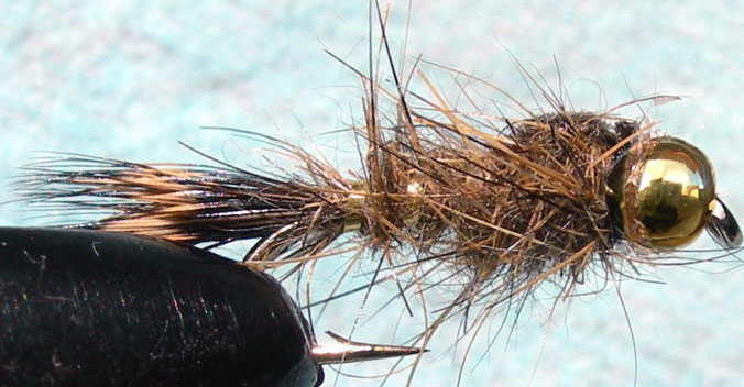 Tungsten Goldbead Goldribbed Hares Ear trout fly