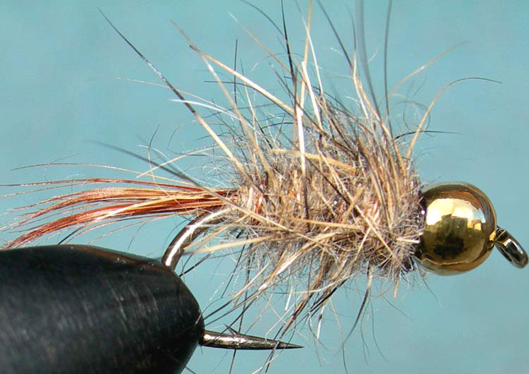 Tungsten Goldbead Hare&Copper trout fly