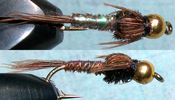Tungsten Goldbead Pheasant Tail Pearl Flashback trout fly