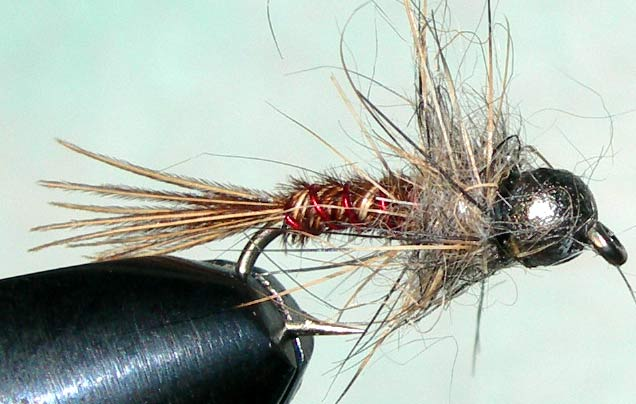 Tungsten Nickelbead BigO trout fly
