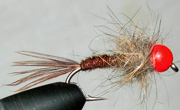Tungsten Orangebead Pheasant Tail Hare Thorax trout fly