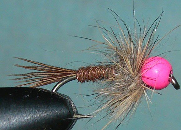 Tungsten Pinkbead Pheasant Tail Hare Thorax trout fly