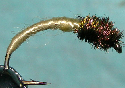 Willow Grub peacock thorax trout fly