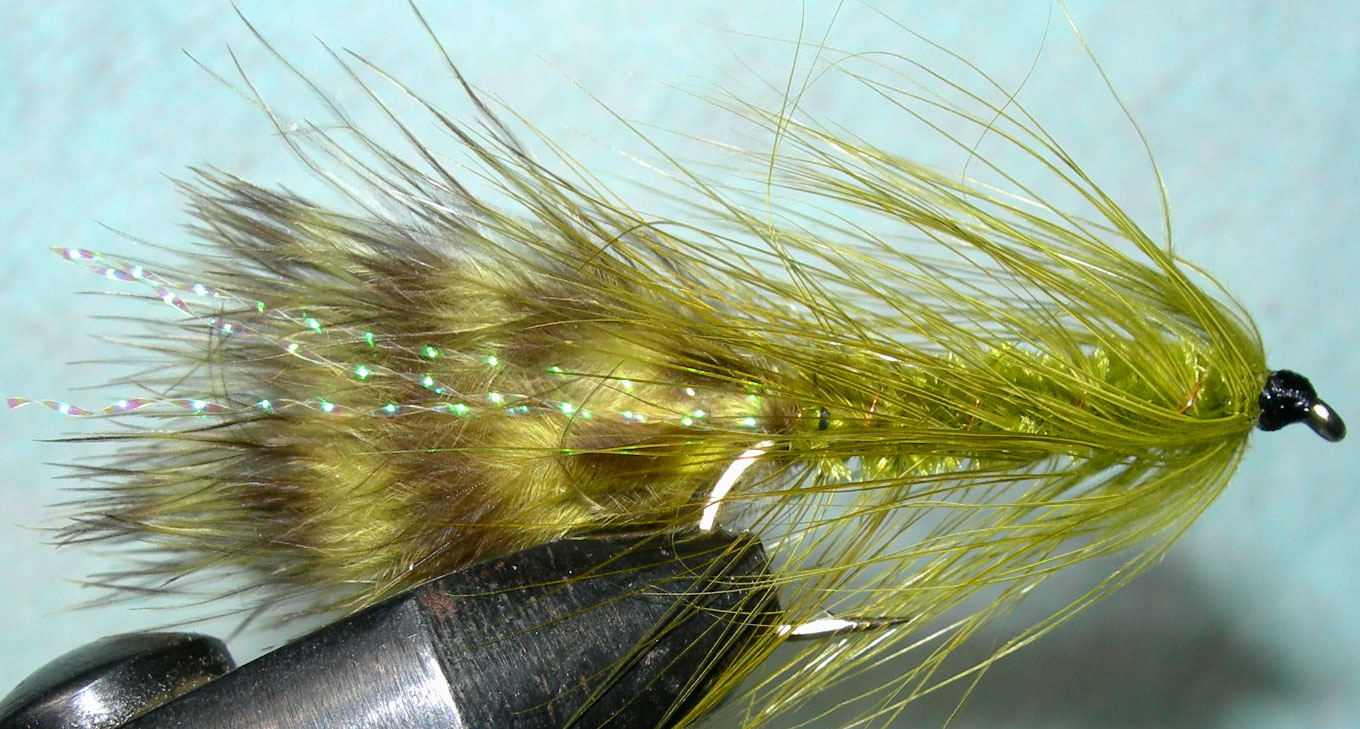 Woolly Bugger 3XL olive&olive trout fly