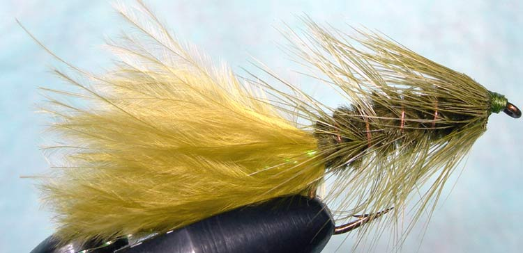 Woolly Bugger olive&insectgreen trout fly