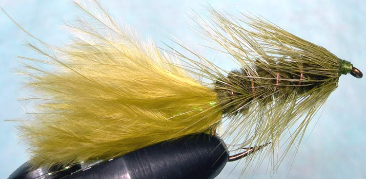 Woolly Bugger olive&olive trout fly
